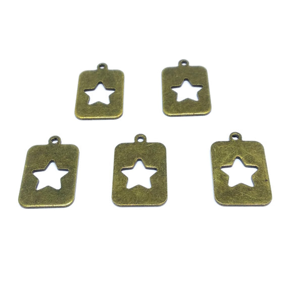 Star Plate Charms (5 pack) - Beading Amazing