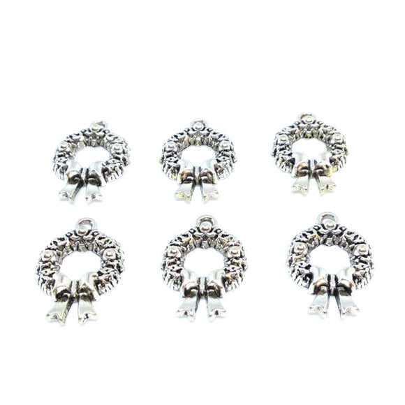 Wreath Charms (6 pack) - Beading Amazing