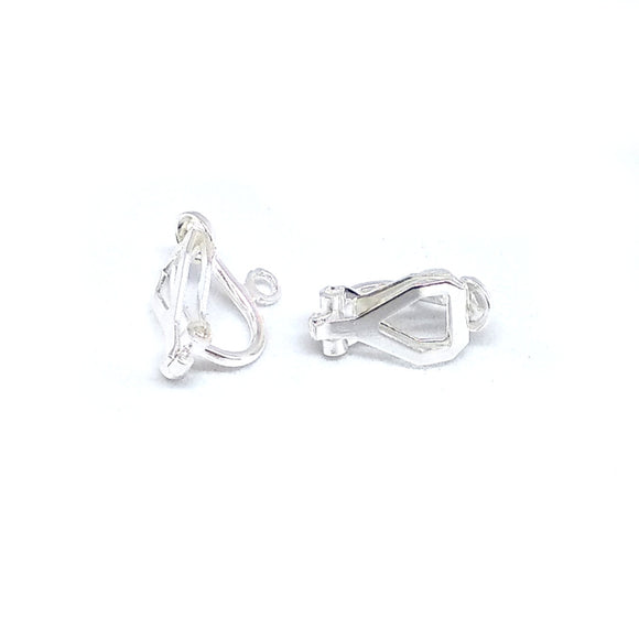Silver Plated Small Clip On's - Beading Amazing