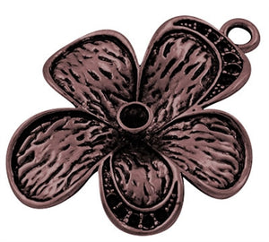 Copper Coloured Flower Pendant - Beading Amazing