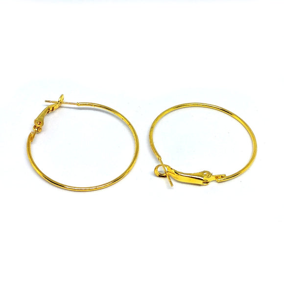 Gold Earhoops - Beading Amazing