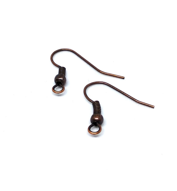 Copper Fish Hook Earwires - Beading Amazing