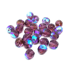 Amy AB 8mm Fire Polished Crystals - Beading Amazing