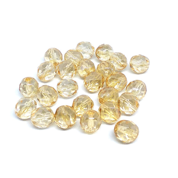 Crystal Champagne Luster 8mm Fire Polished Crystals - Beading Amazing