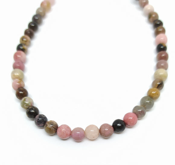 Gemstone - Rhodonite - 4mm Rounds - Beading Amazing