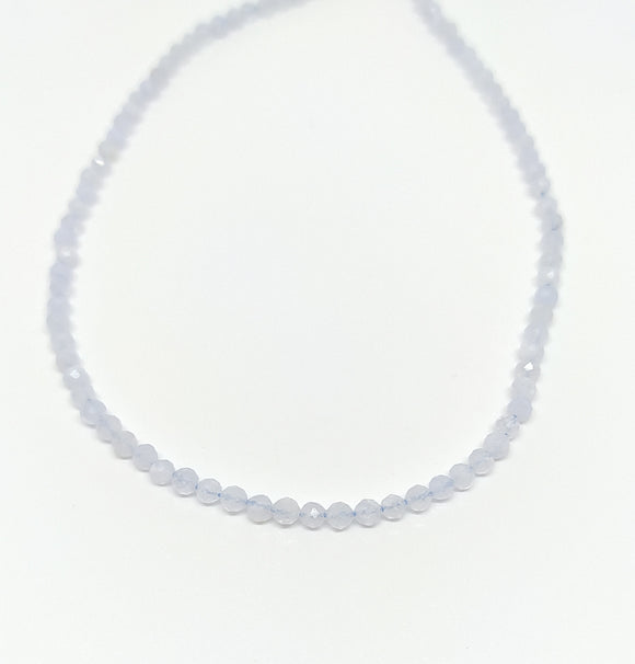Gemstone - Aquamarine - 2mm Faceted Rounds - Beading Amazing