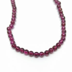 Gemstone - Garnet - 3mm Rounds - Beading Amazing