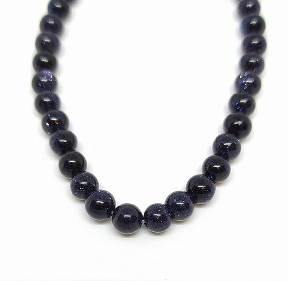Gemstone - Blue Goldstone - 4mm Rounds - Beading Amazing