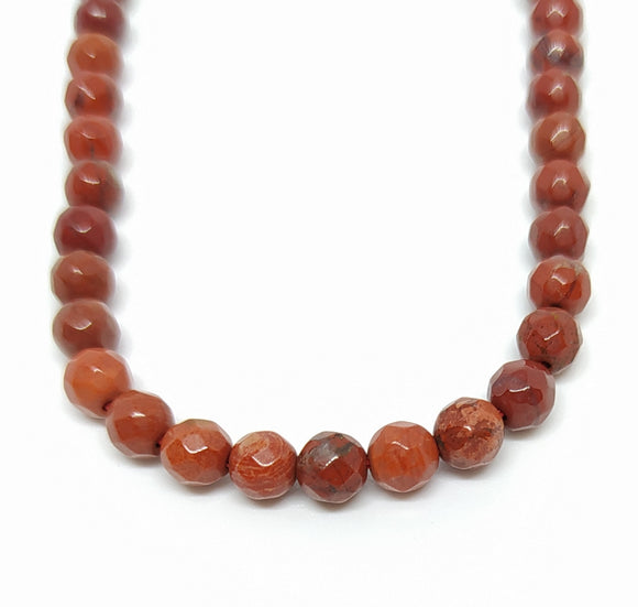 Gemstone - Red Jasper (Grade AB) - 4mm Faceted Rounds - Beading Amazing