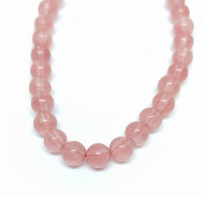 Gemstone - Cherry Quartz - 6mm Rounds - Beading Amazing