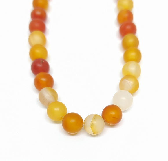 Gemstone - Carnelian Frosted - 6mm Rounds - Beading Amazing
