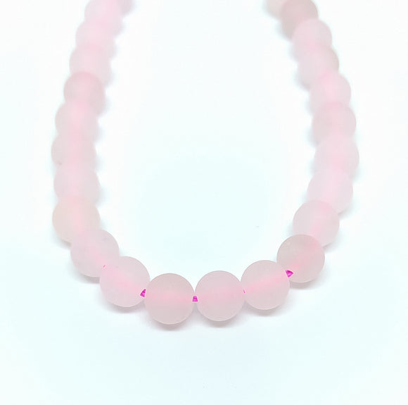 Gemstone - Rose Quartz Frosted - 6mm Rounds - Beading Amazing