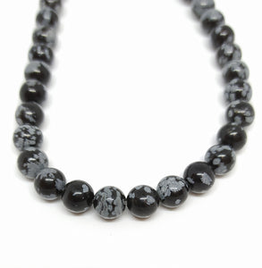Gemstone - Snowflake Obsidian - 6mm Rounds - Beading Amazing