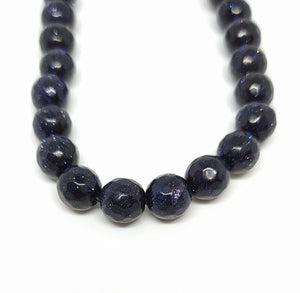 Gemstone - Blue Goldstone - 8mm Faceted Rounds - Beading Amazing