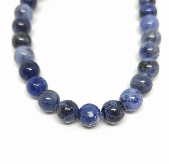 Gemstone - Sodalite - 8mm Rounds - Beading Amazing