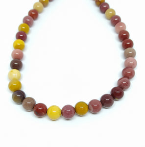 Gemstone - Mookaite - 8mm Rounds - Beading Amazing