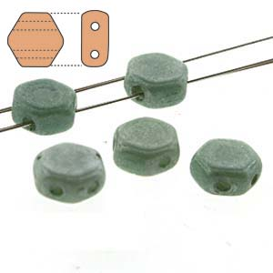 Chalk Green Honeycomb Beads - Beading Amazing