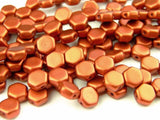 Cry Bronze Fire Red Honeycomb Bead - Beading Amazing