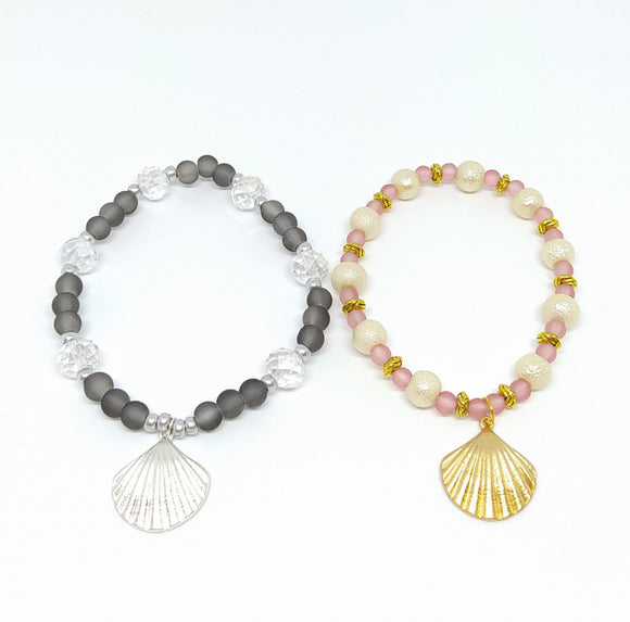 Project Pack - Elasticated Shell Charm Bracelets