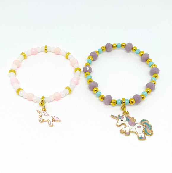 Project Pack - Elasticated Unicorn Charm Bracelets