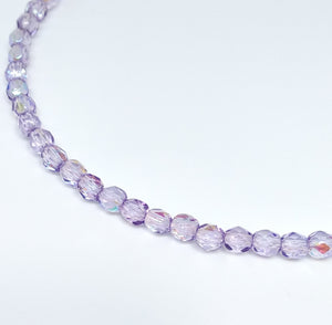 Lilac AB 4mm Fire Polished