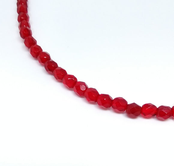 Ruby 4mm Fire Polished