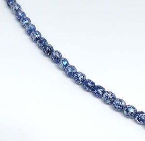 Tweedy Blue 4mm Fire Polished