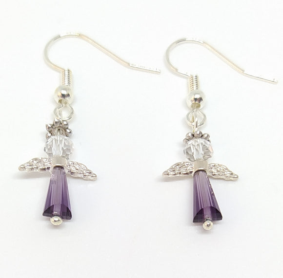 Angel Earring Kit - Purple
