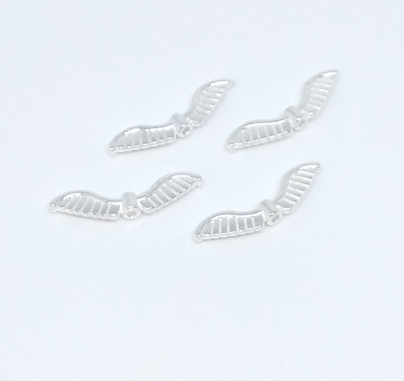 Angel Wings - Bright Silver Striped