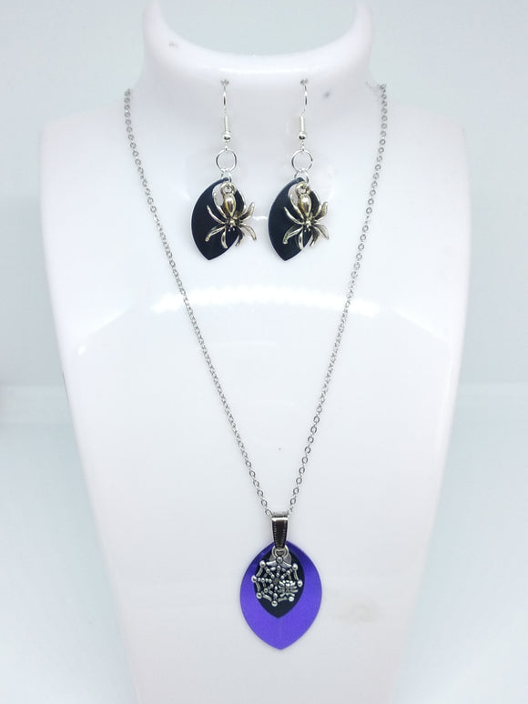 Make At Home Kit - Spider Necklace and Earring Set