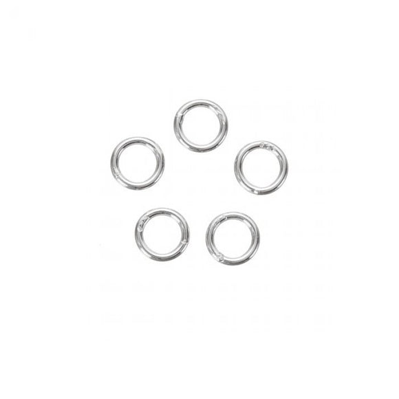 6mm Sterling Silver Jump Rings - Beading Amazing