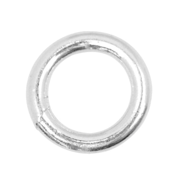 6mm Sterling Silver Closed Jump Rings - Beading Amazing