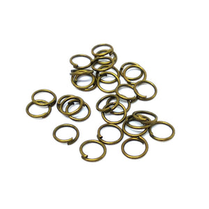 4mm Bronze Jump Rings - Beading Amazing