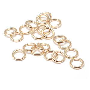 4mm Gold Jump Rings - Beading Amazing