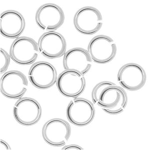 4mm Silver Jump Rings - Beading Amazing