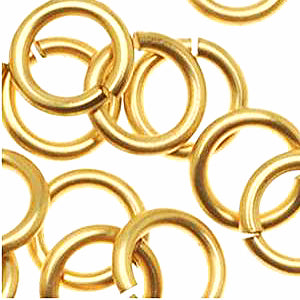 6mm Gold Jump Rings - Beading Amazing