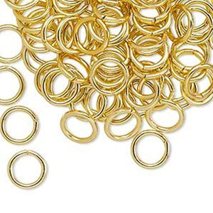 8mm Gold Jump Rings - Beading Amazing