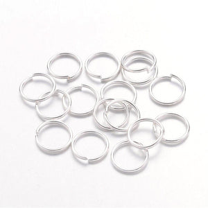 8mm Silver Jump Rings - Beading Amazing