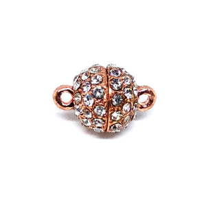 Rose Gold Rhinestone Detail Magnetic Clasp - Beading Amazing