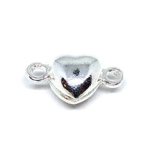 Silver Heart Magnetic Clasp - Beading Amazing