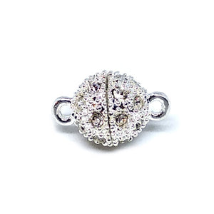 Silver Rhinestone Detail Magnetic Clasp - Beading Amazing