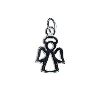 Open Angel Charm Sterling Silver - Beading Amazing