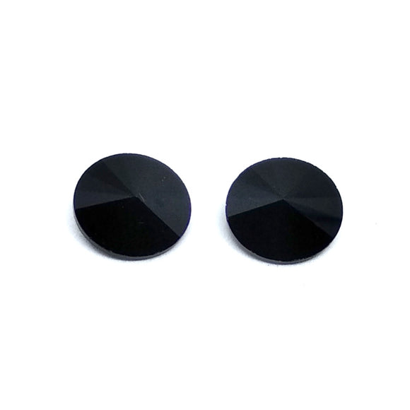 12mm Rivoli Black - Beading Amazing