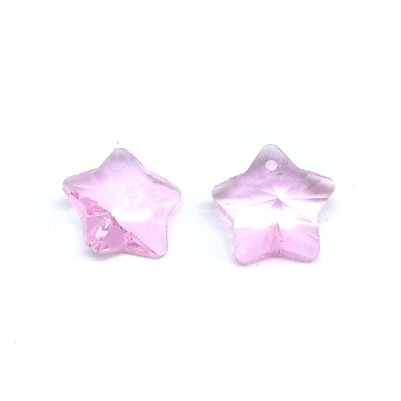 15mm Faceted Glass Beads Star Pink - Beading Amazing
