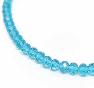 6 x 4mm Faceted Rondelles Turquoise - Beading Amazing