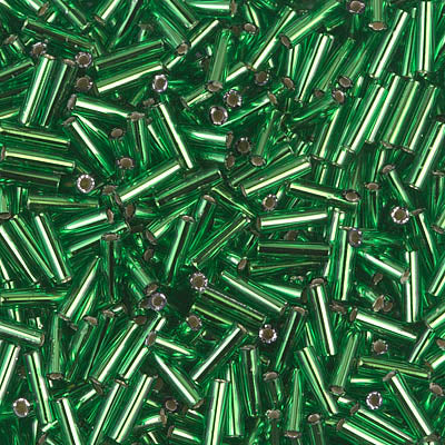 6mm S/L Green Bugles - Beading Amazing