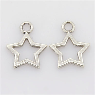 Silver Star Charm - Beading Amazing