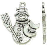 Snowman Charms (Antique Silver) - Beading Amazing
