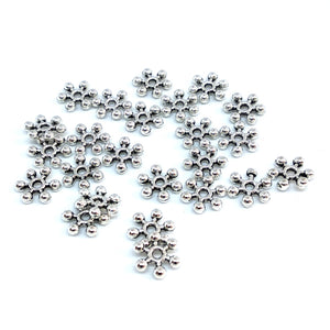 Antique Silver 7mm Snowflake Spacers - Beading Amazing