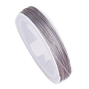 Tiger Tail Silver 0.45mm Thick - Beading Amazing